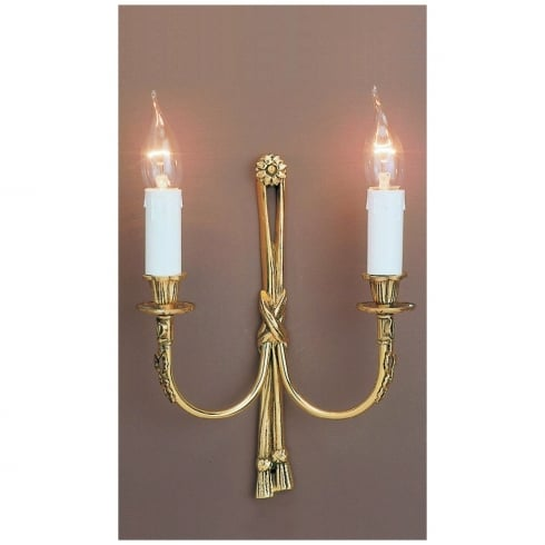 Impex Russell RICHMOND SMBB00012A/PB Polished Brass Wall Light