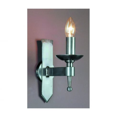 Impex Russell SAXON SMRR01071/STR Sterling Wall Light