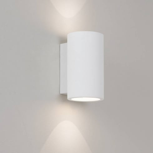 Astro Lighting Bologna 160 7001 White Modern Plaster Up and Down Surface Wall Light IP20