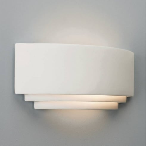 Astro Lighting Amalfi 0423 Surface Wall Light White Ceramic Uplighter