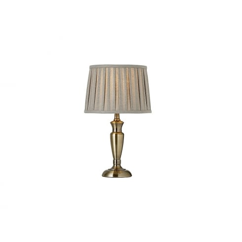 Endon Lighting OSLO-S-AN Brass Table & Desk Lamp Small