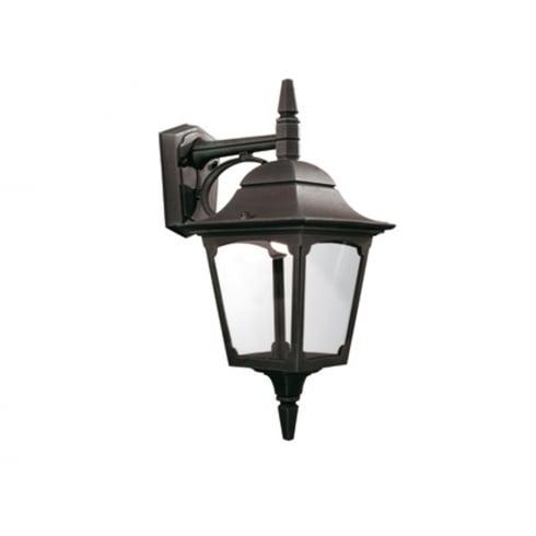 Elstead Chapel Outdoor Down Wall Lantern Black