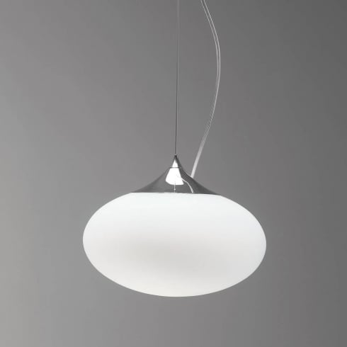 Astro Zeppo 300 Pendant Polished Chrome Opal Diffusers