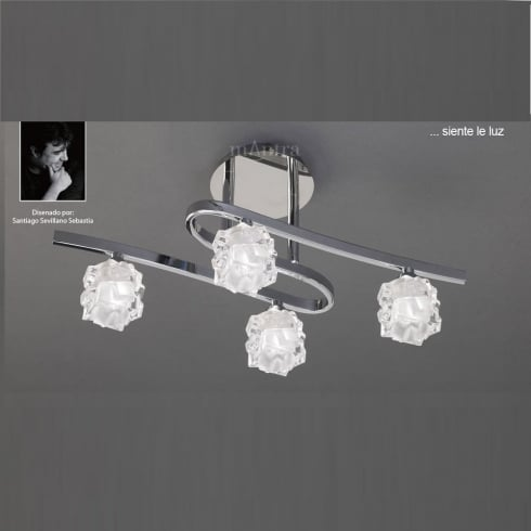 Mantra Spain Ice M1843 Polished Chrome Four Lamp Ceiling Light