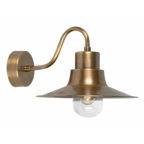 Elstead Lighting Sheldon Brass Outdoor Wall Light