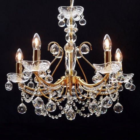 Fantastic Lighting Concerto 1525/2B Gold Plated with Lead Crystal Ball Trimmings Wall Bracket