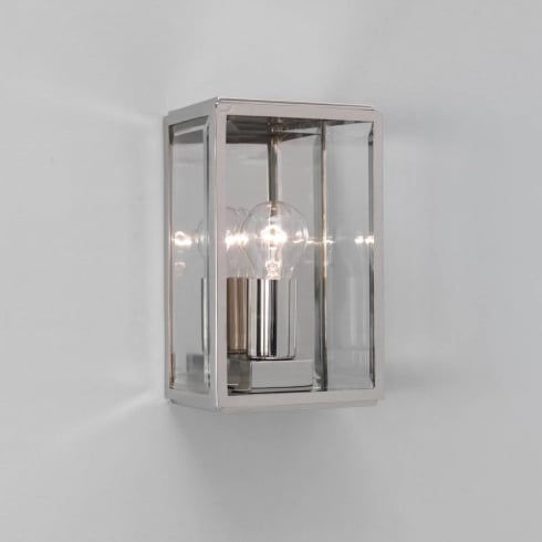 Astro Lighting Homefield Nickel 0563 Nickel Clear Glass Outdoor Surface Wall Light IP44