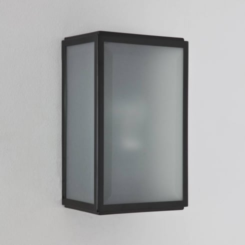 Astro Lighting Homefield Sensor 7266 Black Opal Glass Outdoor Surface Wall Light with PIR IP44