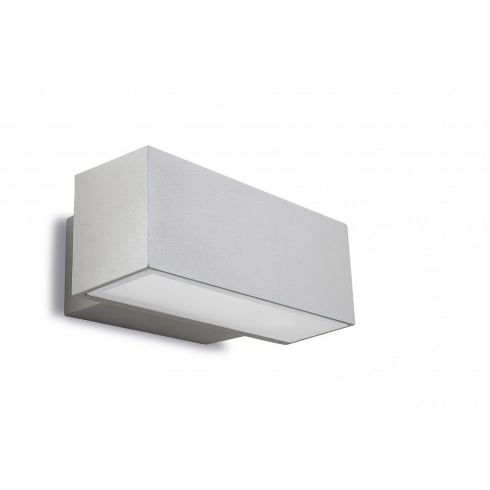 LedsC4 Lighting Afrodita 05-9228-34-37 Grey Injected Aluminium Matt Glass Wall Light