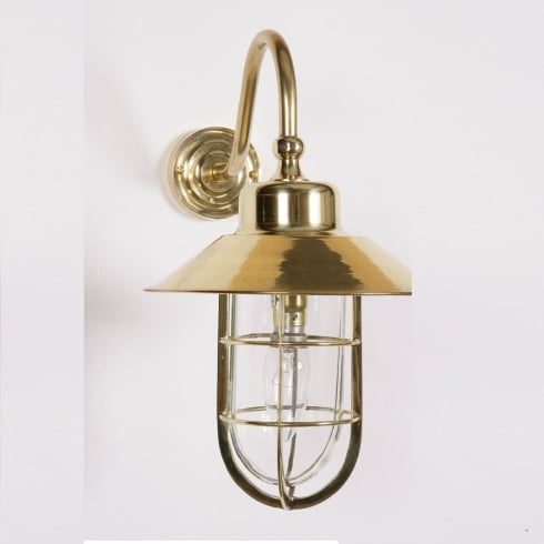 Limehouse Period and Replica Antique Lighting Wheelhouse 448W Polished Brass Wall Lamp