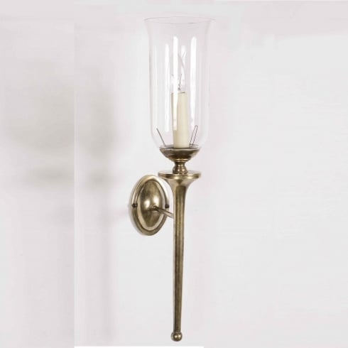 Limehouse Period and Replica Antique Lighting Grosvenor 721G Light Antique With Glass Shade G027 Wall Light