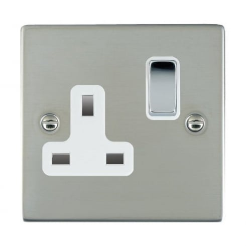 Hamilton Litestat Sheer 83SS1BC-W Bright Chrome 1 gang 13A Double Pole Switched Socket