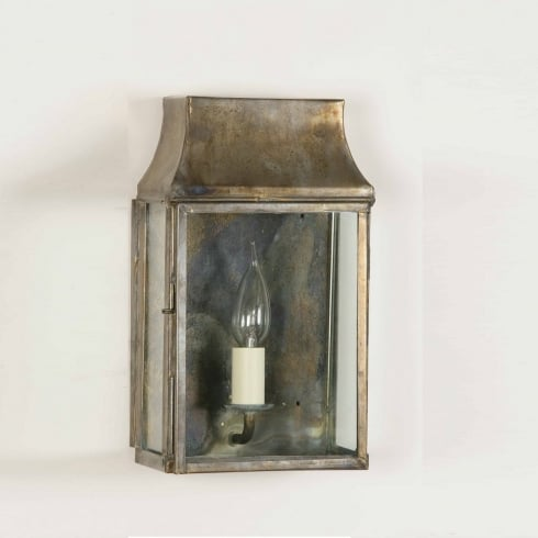 Limehouse Period and Replica Antique Lighting Strathmore 462 Solid Brass Wall Lantern Small