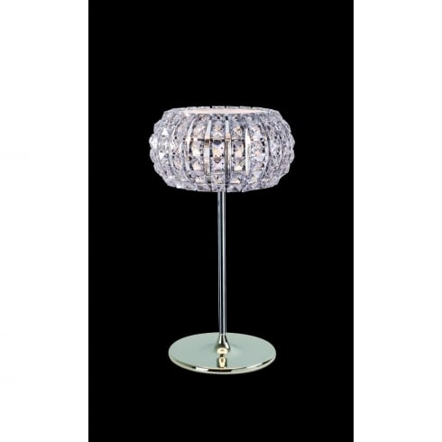 Impex Russell ROME CFH905262/TL/CH Polished Chrome With Crystal Detail Table Lamp