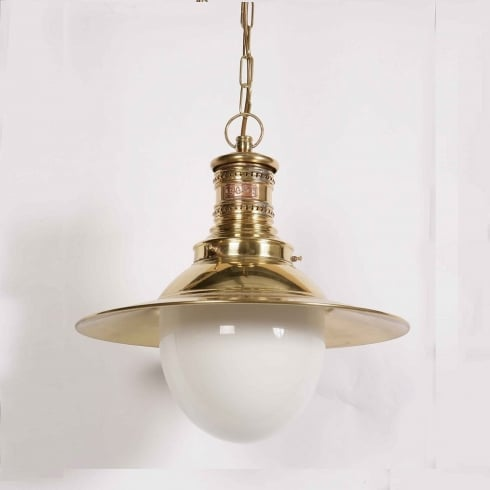Limehouse Period and Replica Antique Lighting Victoria 437 Polished Brass Pendant