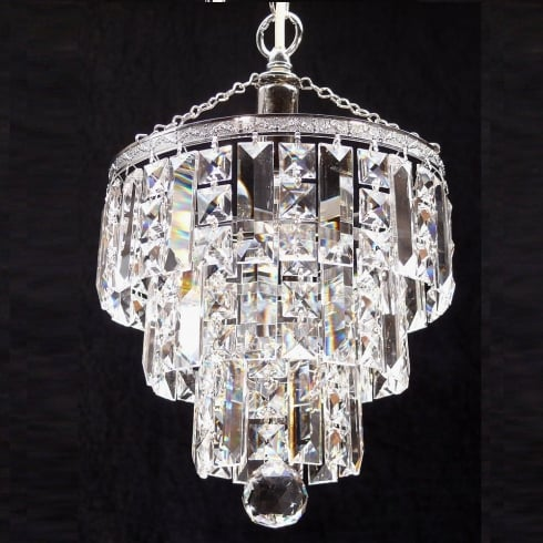 Fantastic Lighting 3 Tier 190/9/1 Crystal Square  & Lozenge Trimmings Round Pendant