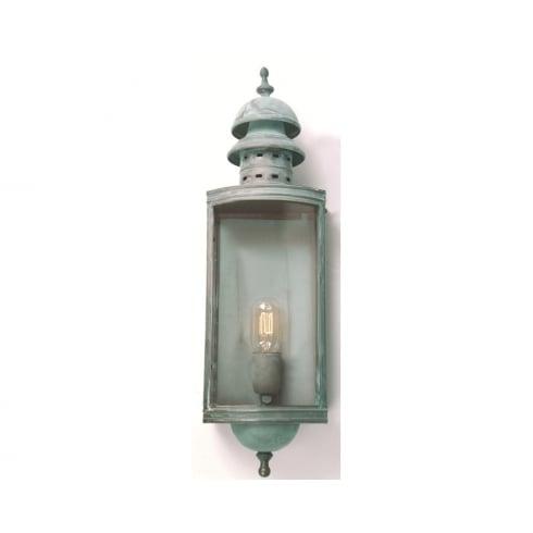 Elstead Downing Street Outdoor Wall Lantern Verdigris