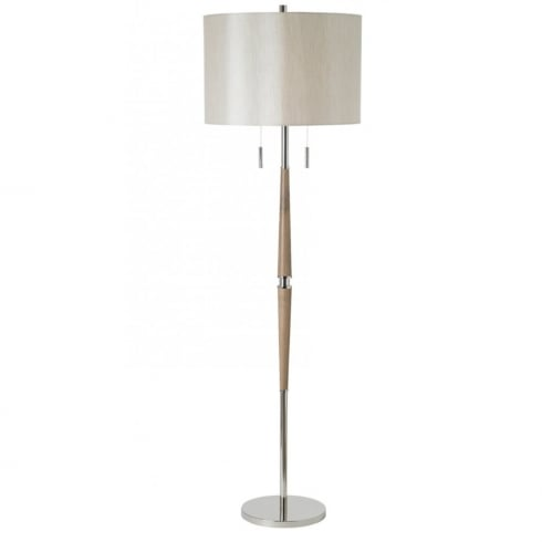Endon Lighting Altesse ALTESSE-FLNI Wood & Polished Chrome Floor Lamp