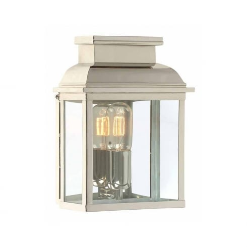 Elstead Lighting Old Bailey Outdoor Polished Nickle Wall Lantern