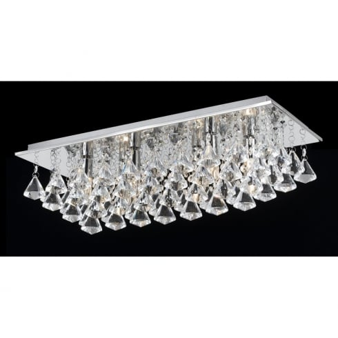 Impex Russell PARMA CFH201114/06/PL/CH Polished Chrome Flush Pendant