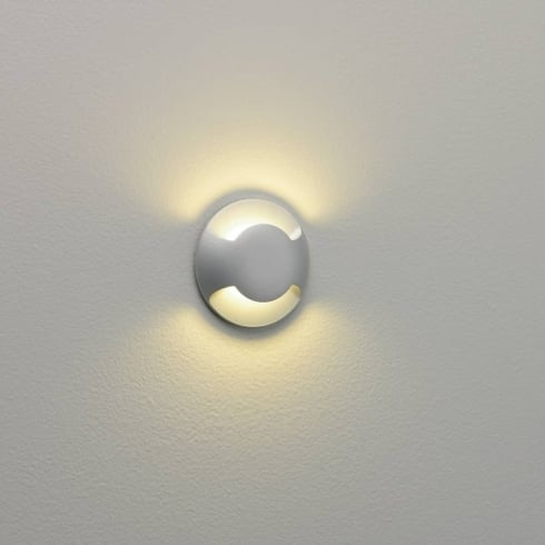 Astro Beam Twin Light Painted Silver LED Ground or Wall Light IP67