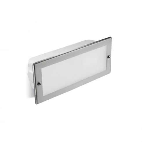 LedsC4 Lighting Hercules 05-9211-CA-T2 Stainless Steel 316 Brick Wall Light