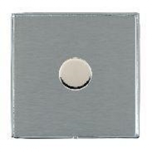 Hamilton Litestat Linea-Duo CFX LD1X60BC-SS Satin Steel 1 gang 600W 2 Way Leading Edge Push On/Off Resistive Dimmer