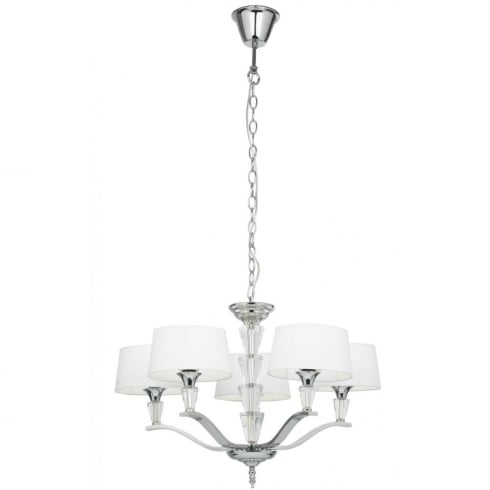 Endon Lighting Fiennes FIENNES-5NI Silver Pendant Ceiling Light