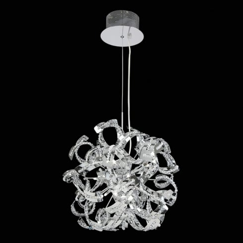 Endon Lighting Twist TWIST-9CH Chrome Pendant Ceiling Light