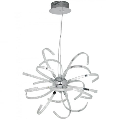 Endon Lighting Pacino PACINO-CH-L Polished Chrome Pendant Ceiling Light