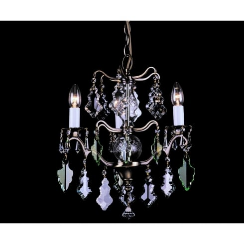 Impex Russell LOUVRE CP06003/03/AB Antique Bronze Chandelier