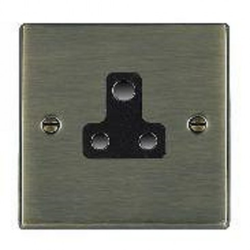 Hamilton Litestat Hartland 79US5B Antique Brass 1 gang 5A Unswitched Socket