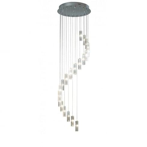 Dar Galileo 20 Light Pendant Ceiling Light Polished Chrome