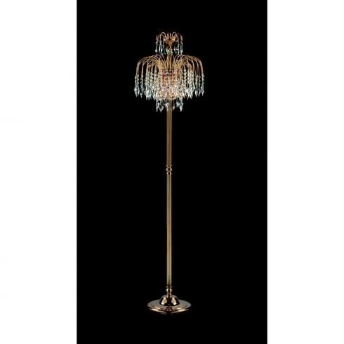 Impex Russell SHOWER ST02000/FL/G Gold With Crystal Detail Floor Lamp