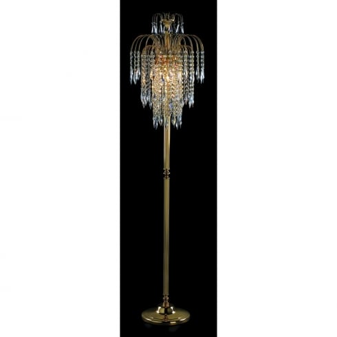Impex Russell SHOWER ST01900/FL/G Gold Floor Lamp