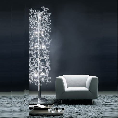 Metal Lux Astro 206.760.01 A1390P Crystal Floor Lamp