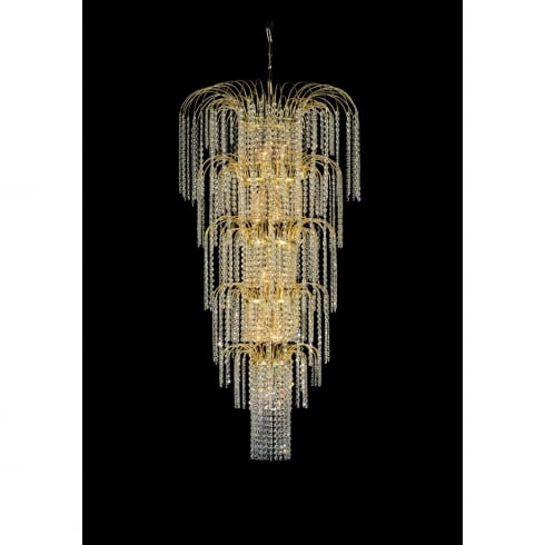 Impex Russell NIVA CP77500/13/G Gold With Crystal Detail Chandelier