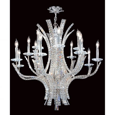 Impex ECLIPSE CO012092/16/CH Polished Chrome With Crystal Detail Chandelier