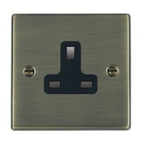 Hamilton Litestat Hartland 79US13B Antique Brass 1 gang 13A Unswitched Socket
