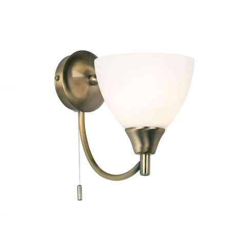 Endon Lighting 1805-2AN Brass Wall Light Double