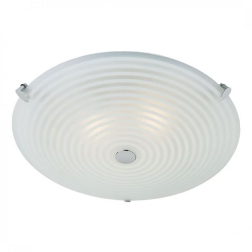 Endon Lighting 633-32 Glass Semi Flush Ceiling Light
