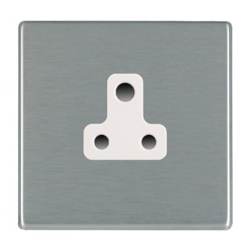 Hamilton Litestat Hartland 74CUS5W Satin Steel 1 gang 5A Unswitched Socket