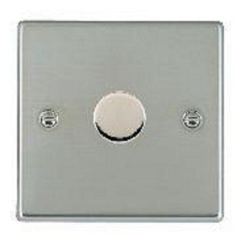 Hamilton Litestat Hatland 731X60 Bright Chrome 1 gang 600W 2 Way Leading Edge Push On/Off Resistive Dimmer