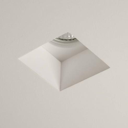 Astro Blanco Square Fixed Downlight Plaster