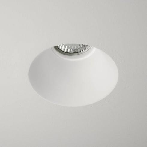 Astro Blanco Round Fixed Recessed Downlight Plaster