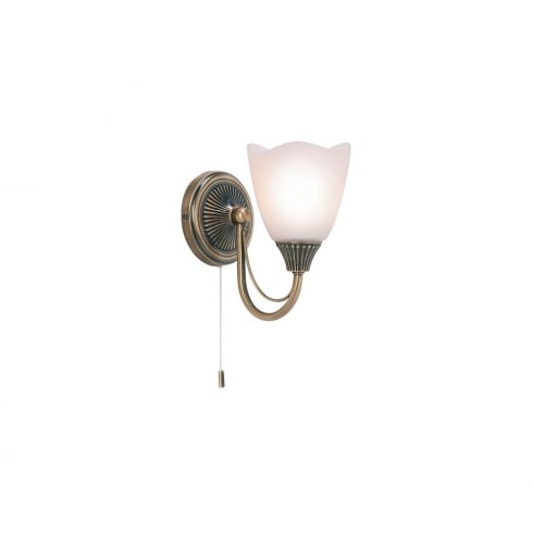 Endon Lighting 601-1AN Brass Surface Wall Light