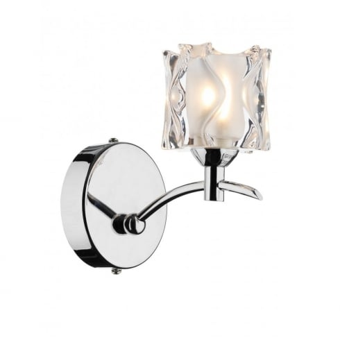 Dar Lighting Jacob JAC0750 Polished Chrome Wall Light