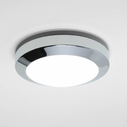 Astro Lighting Dakota 180 0843 Flush Ceiling or Wall Light Polished Chrome with Opal Glass