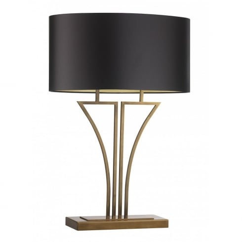 Heathfield & Co. YVES ANTIQUE BRASS M/YVES/T/AB Metal Table Lamp