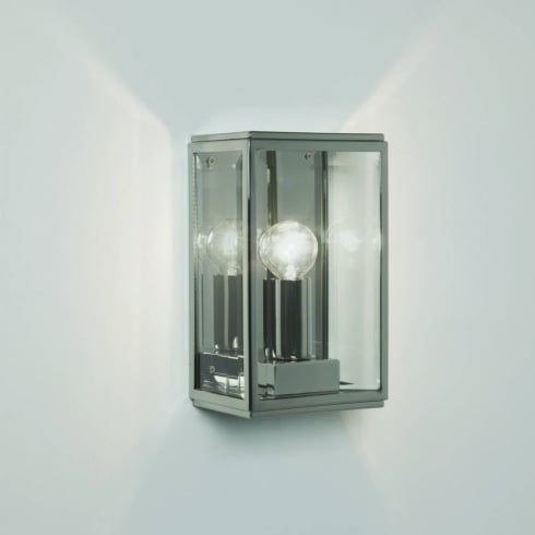 Astro Homefield 130 Outdoor Surface Wall Light Polished Nickel